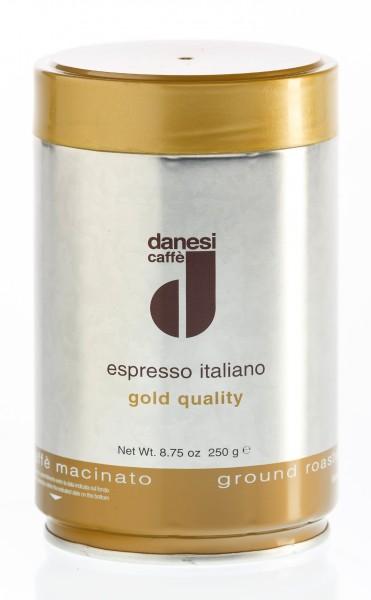 DANESI Espresso ORO 12x 250 g gemahlen in Dosen