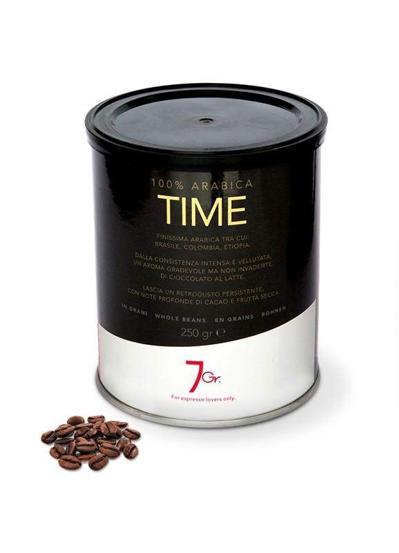 7 GR. TIME COFFEE 100% Arabica 12 X 250 g Bohnen in der Dose
