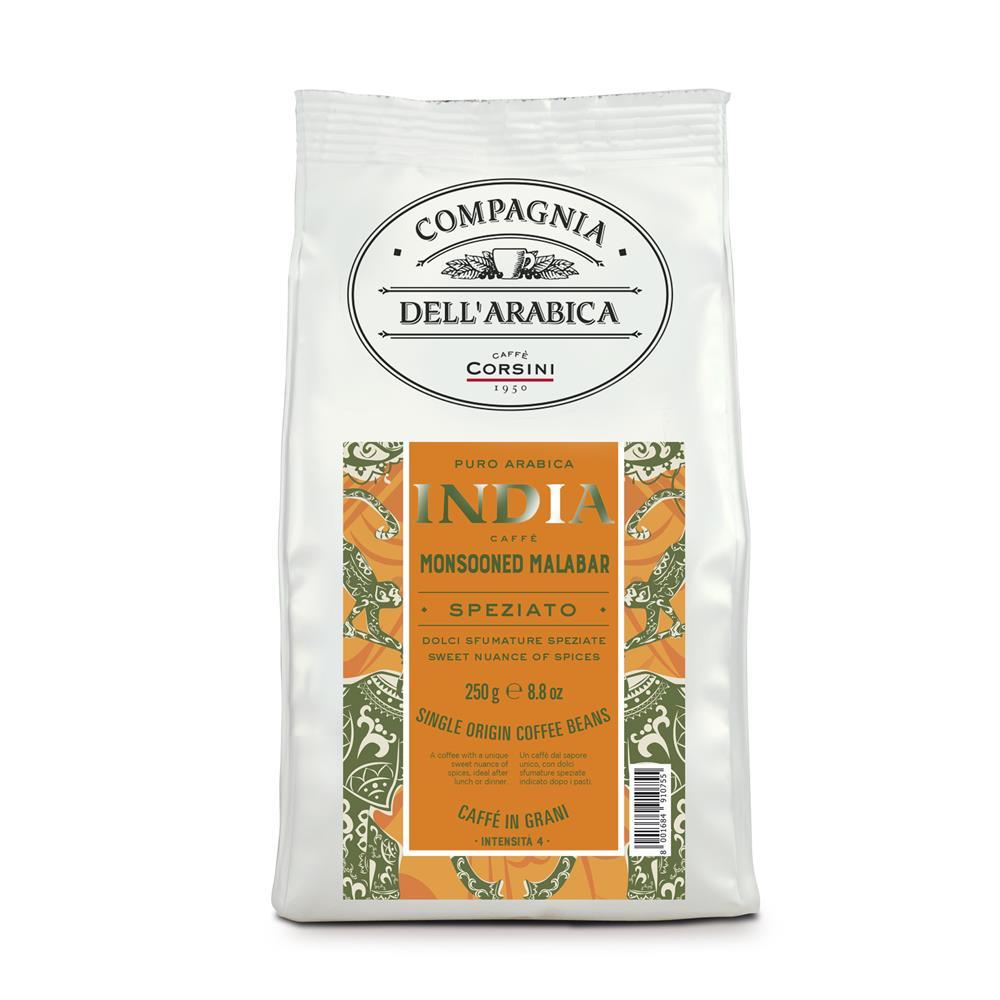 Caffè Corsini India Monsooned Malabar - Compagnia Dell'Arabica 12x 250 g Bohnen im Beutel