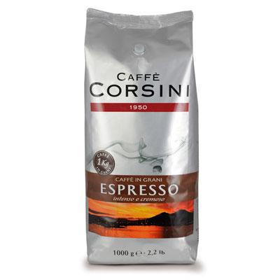 Caffè Corsini Espresso Grani 8x 1 KG Bohnen im Beutel