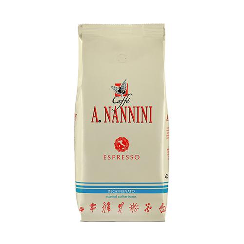 Nannini Decaffèinato (entkoffeiniert) 12x 500 g Bohnen im Beutel
