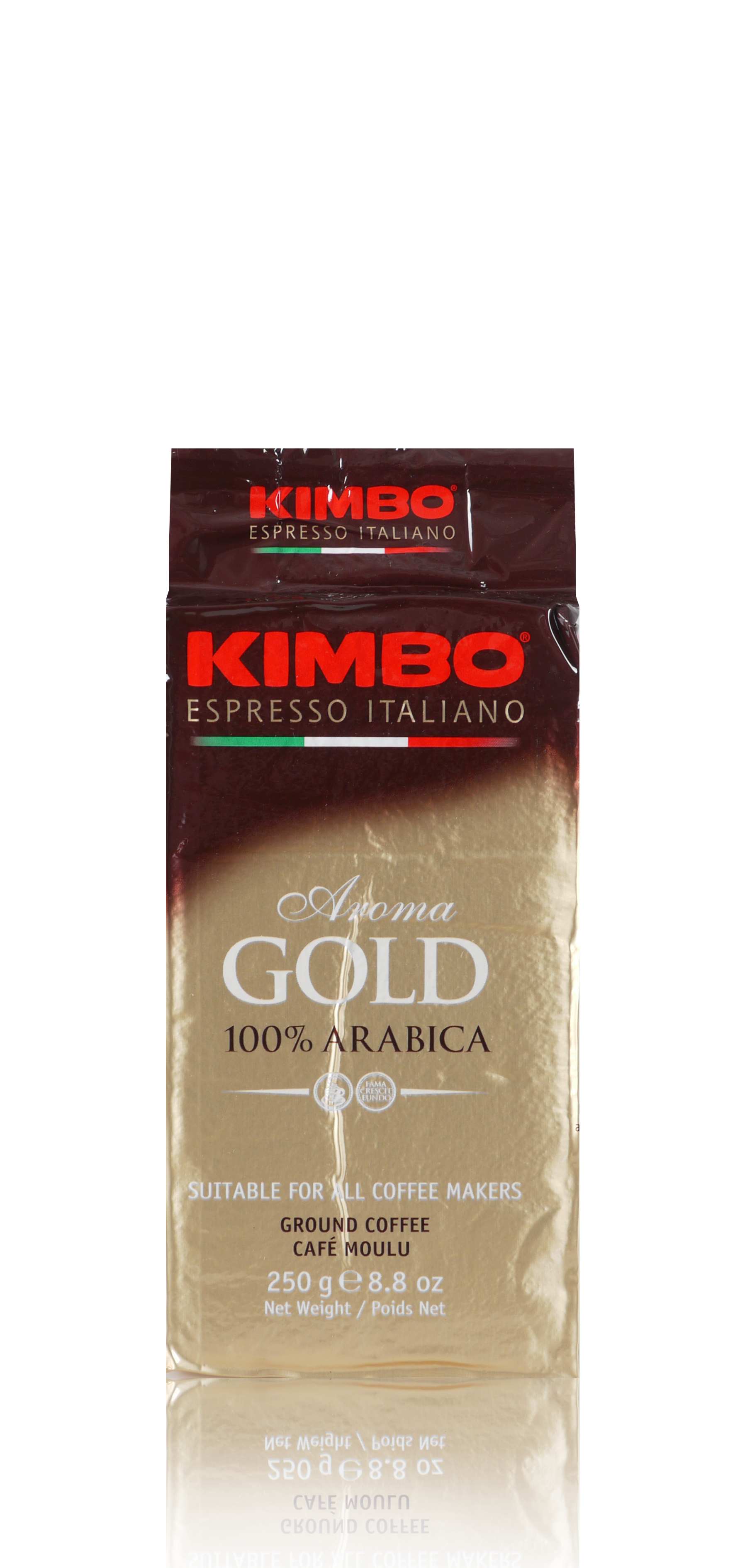KIMBO Aroma Gold 100% Arabica 20x 250 g gemahlen und vakuumiert