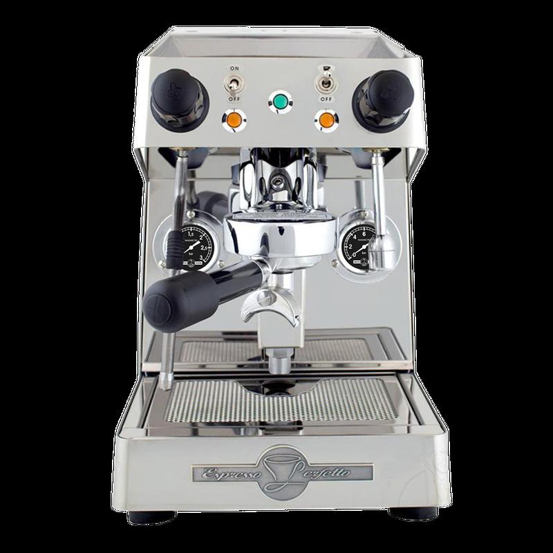BFC Ela Edelstahl poliert Zweikreis Siebträger Espressomaschine