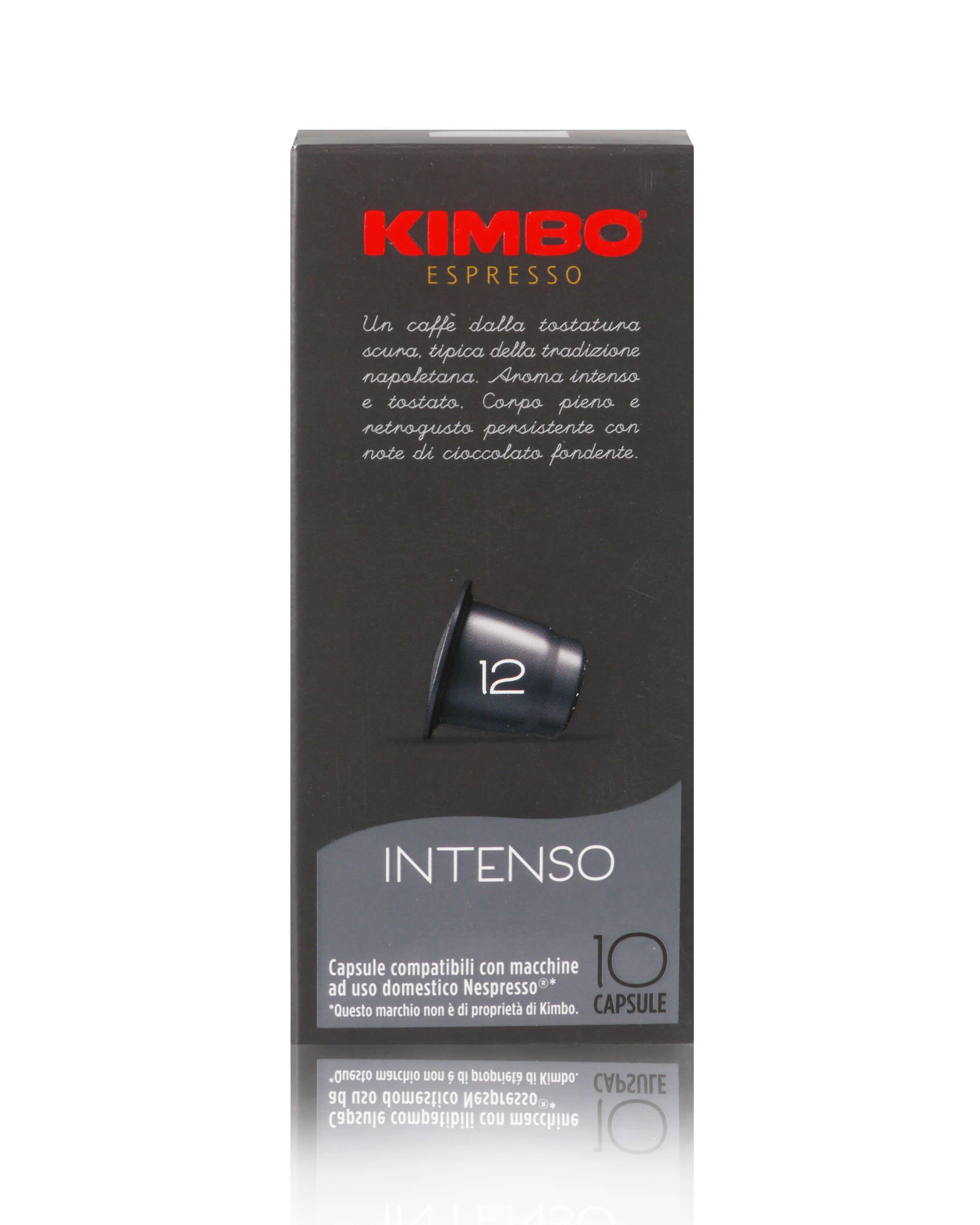 KIMBO Intenso Kapseln - Nespresso® kompatibel 10x 10 Kapseln je 5,8 g gemahlen