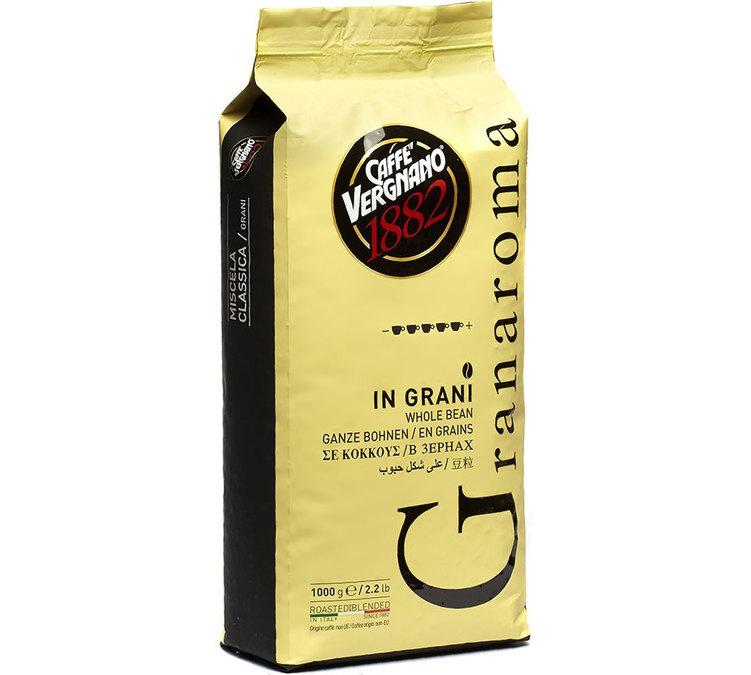 """Caffè Vergnano Gran Aroma """"G"""" 6 X 1 KG Bohnen im Beutel"""
