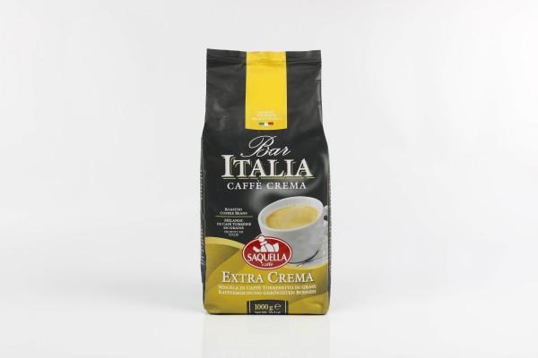 SAQUELLA Caffé Bar Italia Extra Crema 8 X 1 KG Bohnen im Beutel