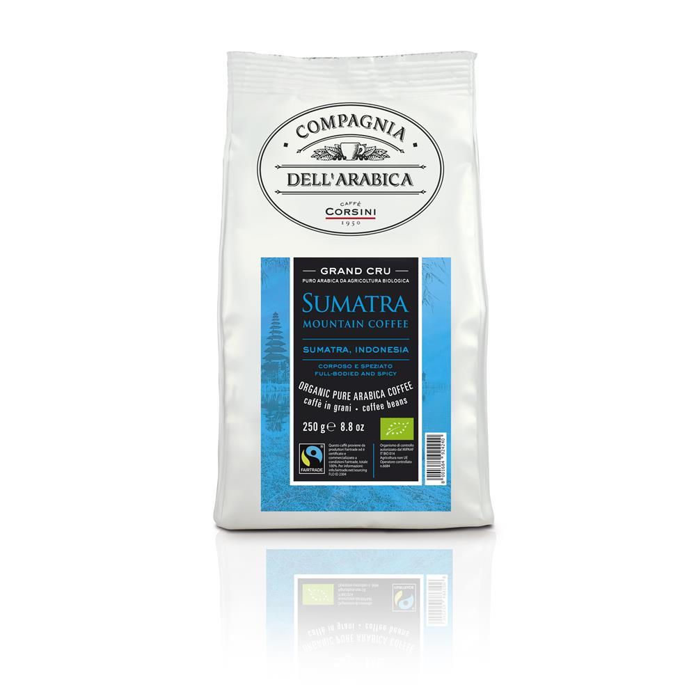 Caffè Corsini Grand Cru Sumatra Mountain - BIO Fairtrade DE-ÖKO-037 12x 250 g gemahlen, Vakuum