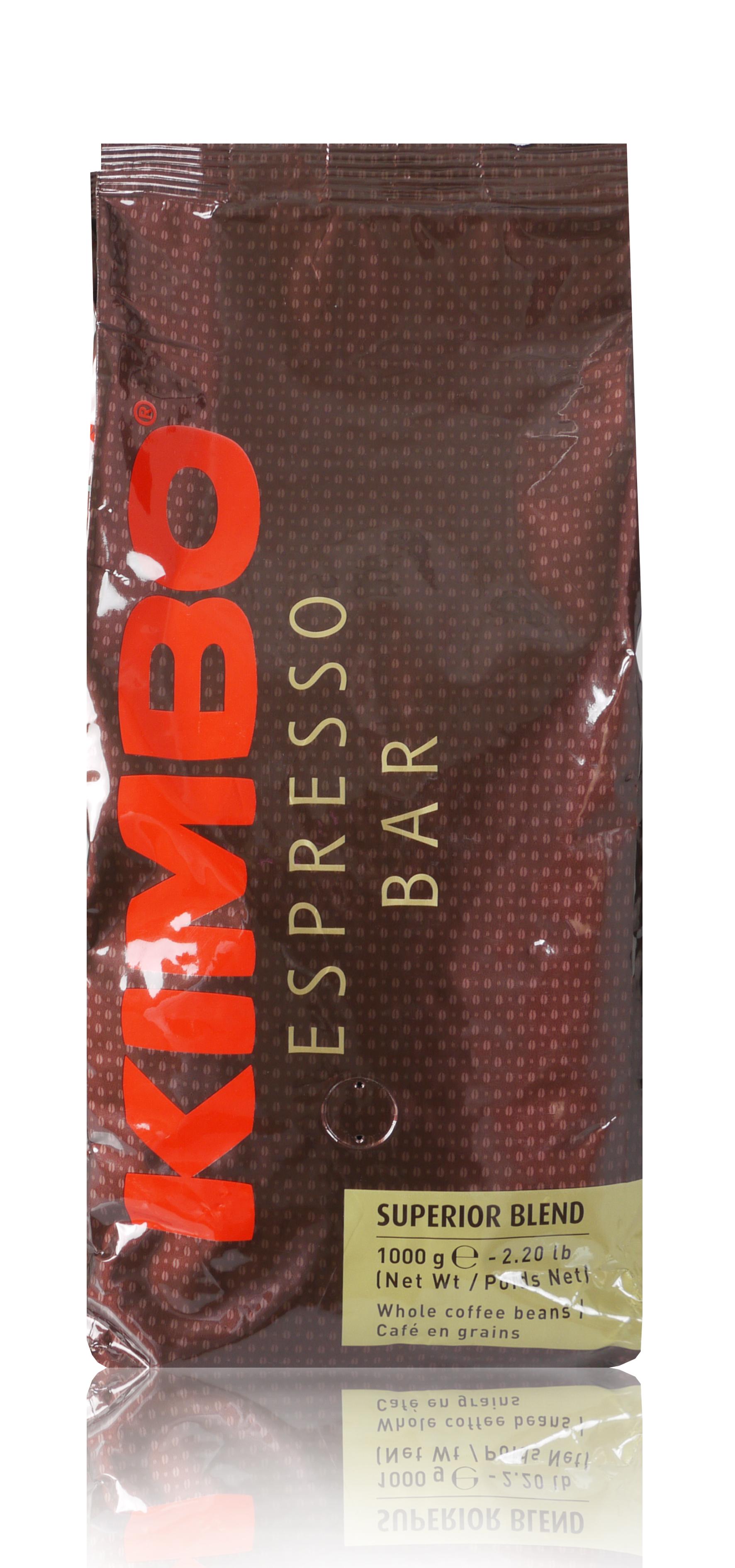 KIMBO Superior Blend 6 X 1 KG Bohnen im Beutel