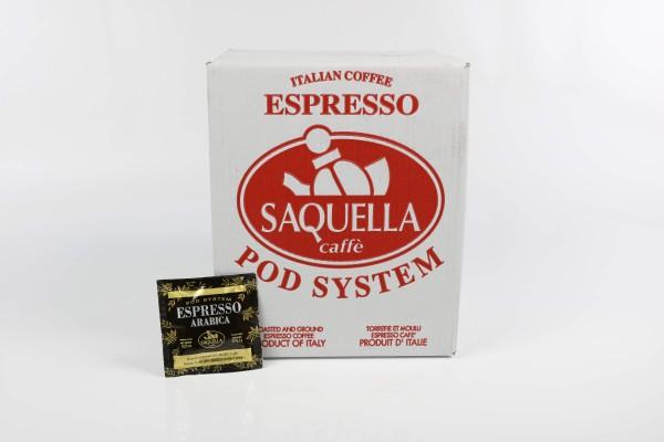 SAQUELLA 100% Arabica 1x 150 ESE-Pads je 6,67 g gemahlen