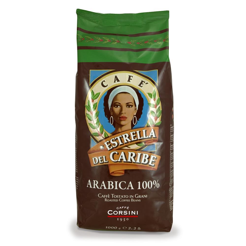 Caffè Corsini Estrella Del Caribe 100% Arabica 8x 1 KG Bohnen im Beutel