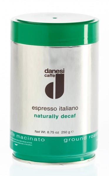 DANESI Decaffèinato (entkoffeiniert) 12x 250 g gemahlen in Dosen
