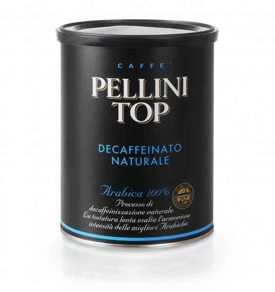 PELLINI Top 100% Arabica Decaffeinato (entkoffeiniert) 6x 250 g gemahlen in Dosen
