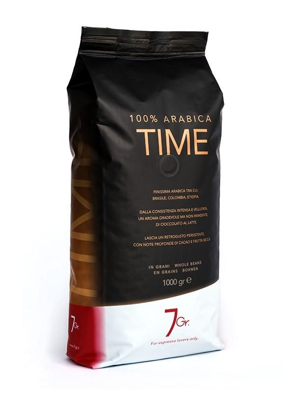 7 GR. TIME COFFEE 100% Arabica 6 X 1 KG Bohnen im Beutel