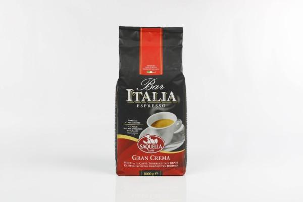 SAQUELLA Espresso Bar Italia Gran Crema 8 X 1 KG Bohnen im Beutel
