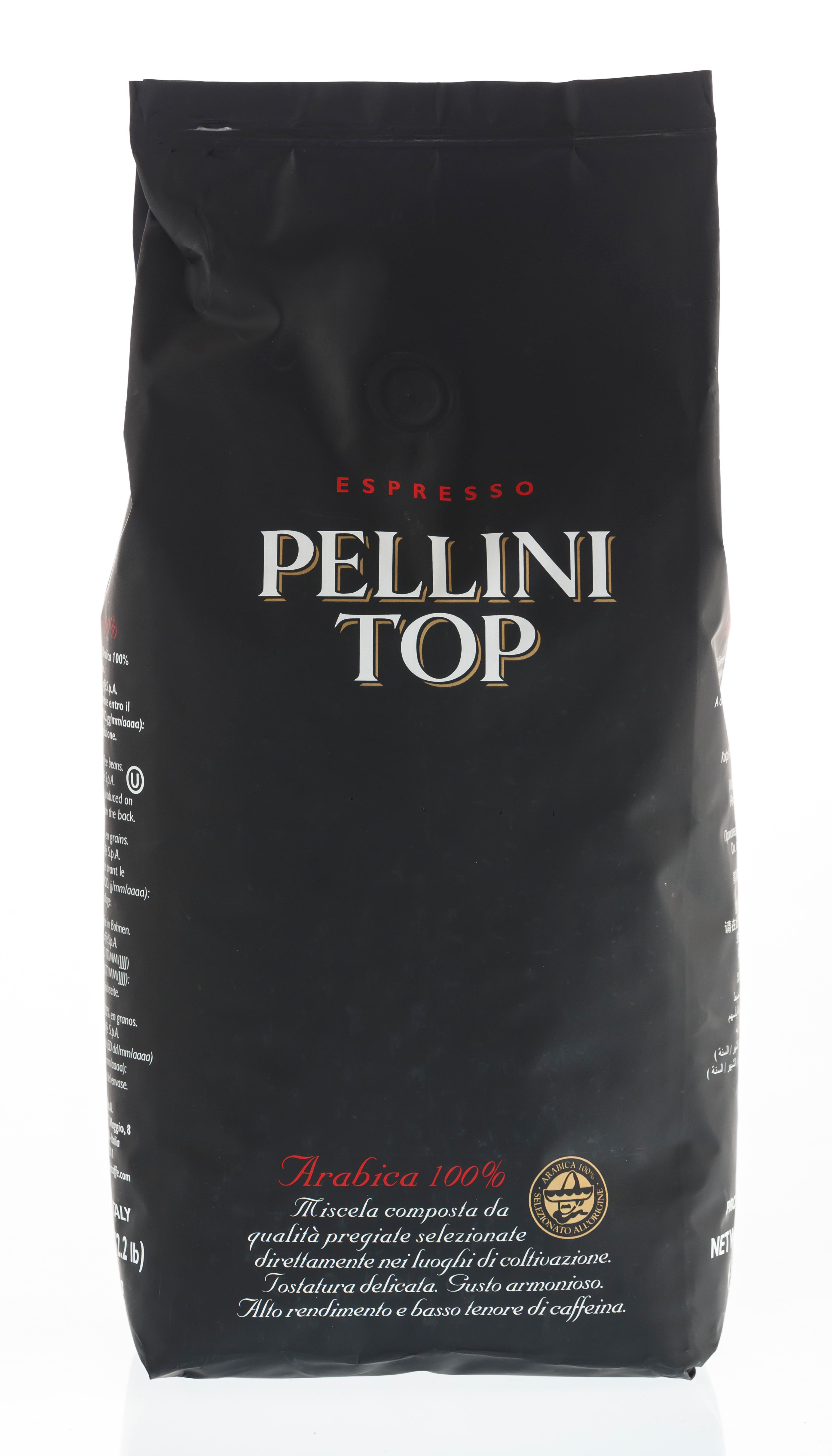 PELLINI Top 100% Arabica 6 X 1 KG Bohnen im Beutel