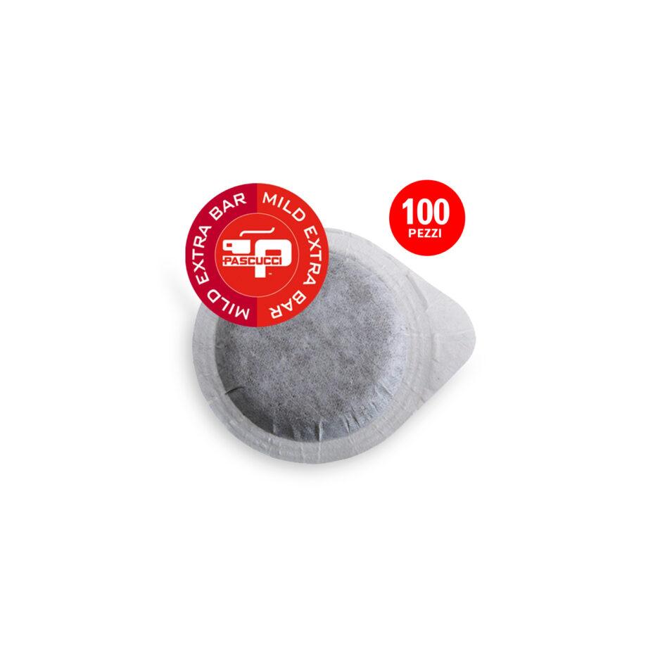 PASCUCCI Extra Bar Mild 1x 100 ESE-Pads je 7 g gemahlen